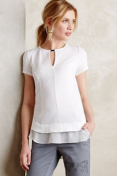Anthropologie EU Soledad Chiffon-Trimmed Top