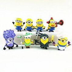 Despicable-Me-Minions-Set-of-8-Action-Figures-included-Minion-Ninja-Fireman-Baker-Golfer-Stuart-Dave-0