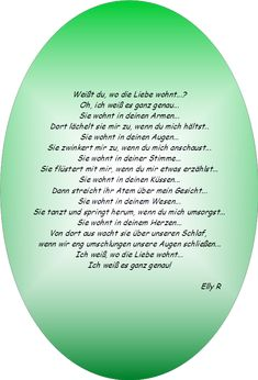 wo die Liebe wohnt... Chart, Poetry, Love