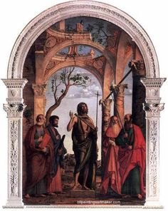 Cima da Conegliano St. John the Baptist and Saints - Cima da Conegliano, painting Authorized official website
