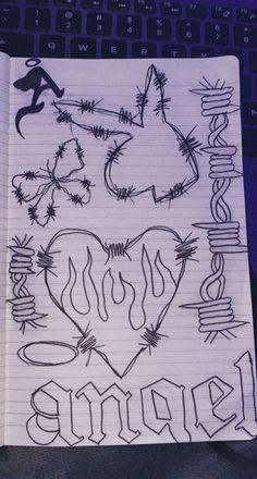 Indie Drawings, Dark Art Drawings, Art Drawings Sketches Simple, Arte Grunge, Grunge Art, Arte Indie, Indie Art, Trash Art, Arte Obscura