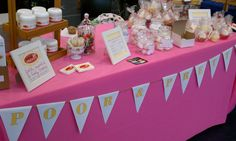 Pretty pink craft booth