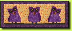 Free Paper-pieced Owl Quilt pattern - from Regina Grewe - only free for a limited time.