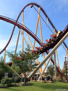 Diamondback: Kings Island - Mason Ohio Scary Roller Coasters, Mason Ohio, Planet Coaster, Kings Island, Amusement Park Rides, Parking Design, Summer Fun, Aesthetics, Around The Worlds