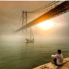 Nevoeiro no Rio Tejo - PONTE SALAZAR / Ponte 25 de Abril - Lisboa - Portugal
