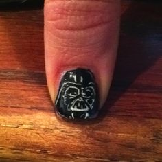 Dearth Vader Nail Art by Jimmy