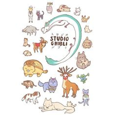 The Ghibli Jam, stephhodges: NEWAnimals of Studio Ghibli design... found on Polyvore featuring polyvore