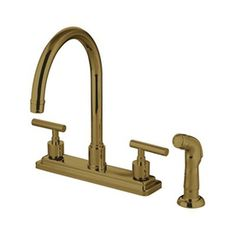 Vintage Kitchen Faucet Aid Coupons 13 Best Faucets Images Brass Elements Of Design Manhattan Polished 2 Handle Deck Mount High Arc At Lowes Com