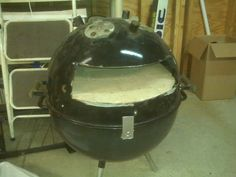 Not to buy but to make... A kettle BBQ turned in to a pizza oven. This sounds like a great excuse to buy a Weber Performer and modify my current BBQ.