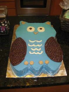 Owl cake Baby Owls, Baby Shower, Cake, Desserts, Baby Sprinkle Shower, Pie Cake, Tailgate Desserts, Pastel, Baby Sprinkle