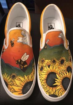 Tyler The Creator Flower Boy Vans[Picked from ETSY] Hand painted Tyler the Creator Vans, made to look like the Flower Bo Painted Canvas Shoes, Custom Painted Shoes, Painted Sneakers, Hand Painted Shoes, Painted Vans, Vans Shoes Fashion, Custom Vans Shoes, Custom Made Vans, Boys Vans