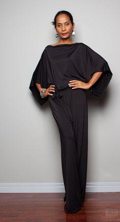 Mono negro - Maxi vestido: Casual & Chic colección No 1