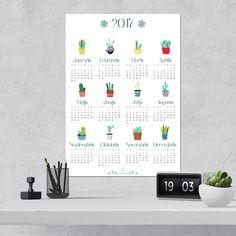 "2017. gada kalendārs ""Kaktusi"""