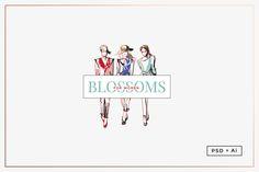 Women's Fashion Logo Template https://creativemarket.com/MeeraG/315420-Women%E2%80%99s-Fashion-Logo-Template #design #art #graphicdesign