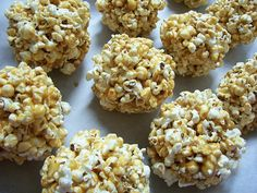 healthy snacks, popcorn balls, krispie treats, krispi treat