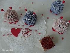 Dulces para un Angel: Cucpakes peludos amorosos por San Valentín