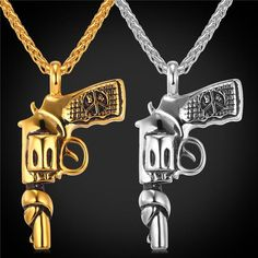 Stainless Steel / Gold Plated Necklace American Style Roscoe Hiphop Jewelry For Men Silver Hoop Earrings, Sterling Silver Necklaces, Style Hip Hop, Girls Jewelry Box, Jewelry Stand, Jewelry Shop, Jewelry Design, Sunflower Jewelry, Gold Chains For Men