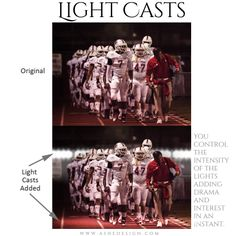 Photography Digital Props Light Casts For Scrapbooking - SPORTS STADIUM - different .png files to be easily placed over your images. Team Photos, Sports Photos, Sport Photography, Photography Business, Team Poster Ideas, Sports Templates, Digital Light, Basketball Posters, Soccer Pictures