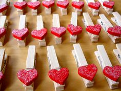 cute valentine craft for kids.. add magnets and write on 'em.. pretty sure that's what we're gonna do this year..