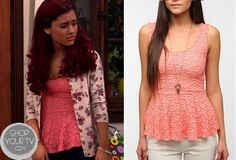 Shop Your Tv: Sam & Cat: Season 1 Episode 4 Cat's Pink Daisy Peplum Top