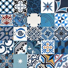 More than 500 cement tiles references in stock with immediate availability Tile Art, Mosaic Tiles, Cement Tiles, Stair Stickers, Wall Stickers, Tile Patterns, Textures Patterns, Wood Floor Pattern, Tiles Online
