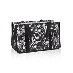Keep-It Caddy in Black Floral Brushstrokes for $22 - This handy storage solution is great to keep in the car so you'll always have everything when you're on the go, or use it to organize your office, living room, basement or more! Via @thirtyonegifts