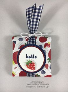 Ghirardelli Treat Holder Using Envelope Punch Board And Fruit Basket Bundle