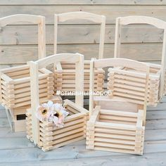 Flower boxes, box of slats, boxes, boxes, - buy in online store at the Fair of Masters with delivery Popsicle Stick Crafts, Popsicle Sticks, Craft Stick Crafts, Wood Crafts, Diy Crafts Hacks, Diy Home Crafts, Crafts For Kids, Stick Art, Wood Pallet Furniture