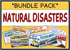 This bundle pack consists of 8 different sets of printables on natural disasters – 63 pages in total. This bundle will save you OVER 20% - visit our TpT store for more information and for other classroom printable resources by clicking on the provided links.