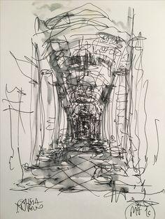 #sketch #schizzo #bozzetto #interni #interiors #guazzo #drawing #disegni