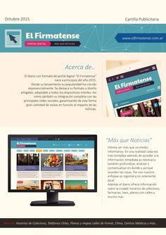 Folleto de esquema publicitario para diario digital El Firmatense.