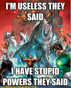 Aquaman Funny with SHARKS DC Comics