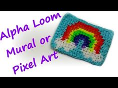 Alpha Loom Mural / Pixel Art Tutorial by feelinspiffy (Rainbow Loom) Rainbow Loom Tutorials, Rainbow Loom Creations, Rainbow Nail Art, Free Activities For Kids, Loom Craft, Rainbow Loom Charms, Rubber Band Bracelet, Loom Bands, Bracelet Tutorial