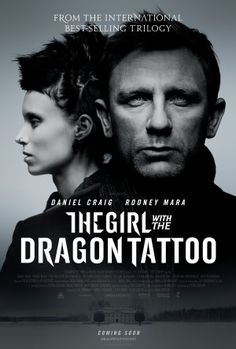 The Girl with the Dragon Tattoo a film by David Fincher + MOVIES + Daniel Craig + Rooney Mara + Christopher Plummer + cinema + Crime + Drama + Mystery Bon Film, Film Serie, Christopher Plummer, David Fincher, Rooney Mara, Daniel Craig, Craig David, Dragon Tattoo Poster, Movie Posters