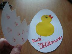 Tvořeníčko – kuřátka a sladká tečka :-D   VašeDěti.cz Art For Kids, Children, Cards, Prague, Czech Republic, Google, Easter, Easter Activities, Art For Toddlers