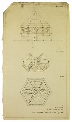 RNDRD is a partial index of architectural drawings and models scanned from design publications throughout the century. Richard Buckminster Fuller, Designs To Draw, Cool Designs, Architecture Drawings, Conceptual Architecture, Craftsman Floor Plans, Unusual Buildings, Elevation Plan, Geodesic Dome