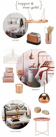 { copper & rose gold }