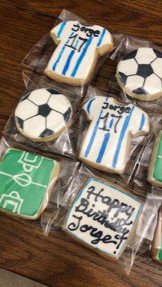 Soccer Theme, Soccer Birthday, Soccer Party, 7th Birthday, Birthday Parties, Soccer Cookies, Cupcake Cookies, Sugar Cookies, Cupcakes