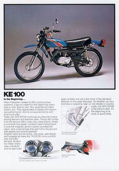 1976 KAWASAKI KE100 VINTAGE MOTORCYCLE POSTER PRINT 36x25   Art, Art from Dealers & Resellers, Posters   eBay!