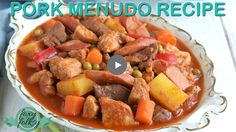 Try this Filipino classic Menudo recipe. A tomato-based stew of pork meat and liver. | www.foxyfolksy.com