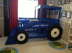 Tractor bed | IKEA Hackers  Isn't this adorable!  And what little boy wouldn't just love getting into this bed.