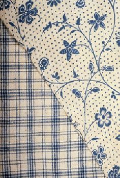 Indigo printed cotton, English 18th C.
