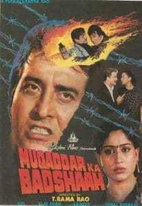 Watch Muqaddar Ka Badshaah 1990  Watch Muqaddar Ka Badshaah 1990 Full Hindi Movie Free Online Director: Rama Rao Tatineni Starring: Vinod Khanna, Shabana Azmi, Vijayshanti, Anupam Kher Genre: Action Released on: N/A Writer: Iqbal Durrani (screenplay) IMDB Rating: 3.5/10 (14 Votes) Duration: 129...