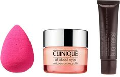 Beauty Review: Beauty Blender, Clinique All About Eyes, and Laura Mercier Oil-Free Tinted Moisturizer.