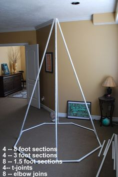 Make a Reading Tent. How to build a play teepee. | The New Home Etc
