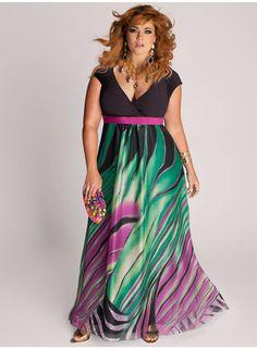 Modernos vestidos largos para gorditas   Vestidos para gorditas de temporada