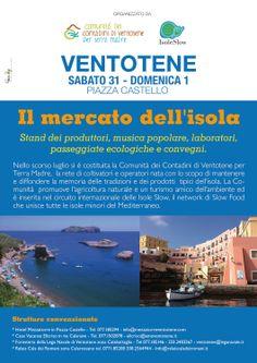 Il Mercato dei contadini a Ventotene: sabato 31 Maggio a domenica 1 Giugno 2014, in collaborazione con la Comunità dei Contadini di Ventotene e Isole Slow.