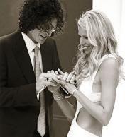 Howard Stern and Beth O (in Georgina Chapman)