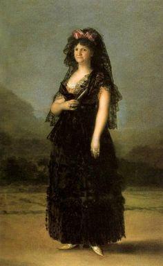 Francisco de Goya, María Luisa wearing a Mantilla, 1799. Oil on canvas, 205 x 130 cm. Colecciones Reales, Patrimonio Nacional, Palacio Real de Madrid © Patrimonio Nacional.