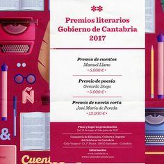 Premios Literarios Gobierno de Cantabria 2017 de Cuentos, Poesía y Novela Cor...